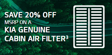 20% Off Cabin Air Filters